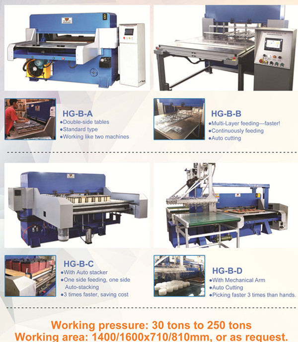 blister  food container cutting machine