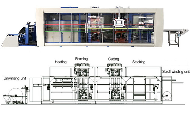 honggang automatic plastic thermoforming machine for sale