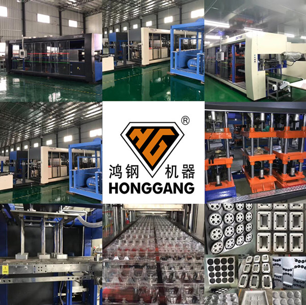 Automatic cups/boxes/plates/containers Plastic Thermoforming machine