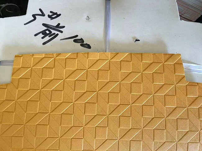 the latest market leather embossing sample