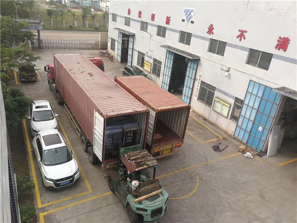 8 big cutting machines, 2 containers ship to India