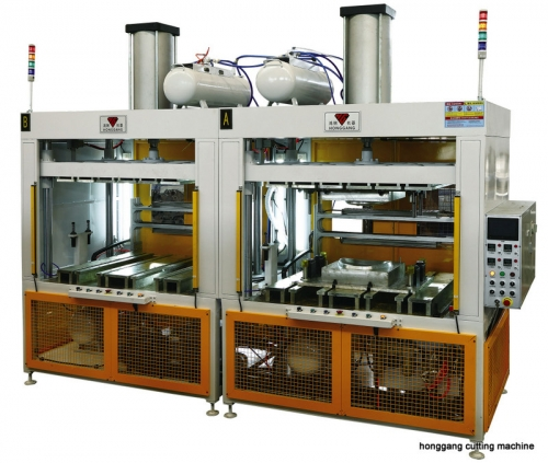 Double working stations forming machine