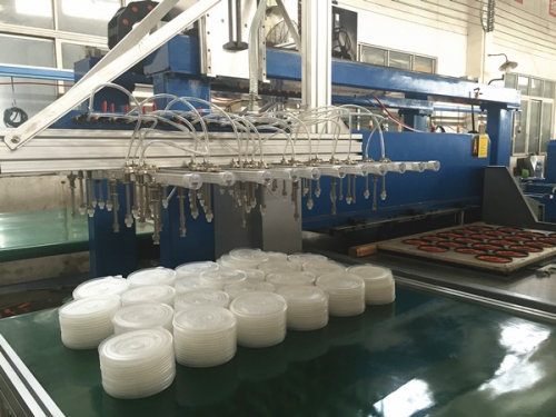auto mechanical picking arm cutting press for plastic blister packaging